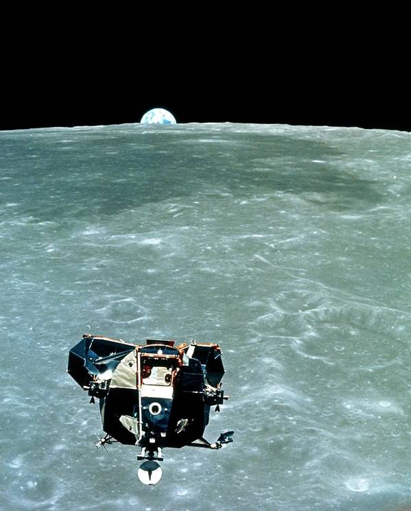 Apollo 11 Poster featuring the photograph View Of The Apollo 11 Lunar Module Ascent Stage by Nasa/science Photo Library