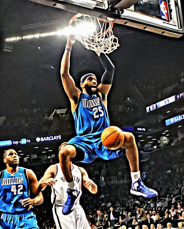 National Poster featuring the painting Vince Carter by Florian Rodarte