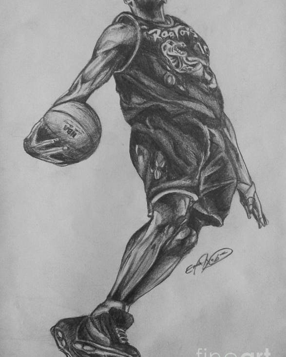 Nba Poster featuring the drawing Vince Carter - Toronto Raptors by Erik Axebrink