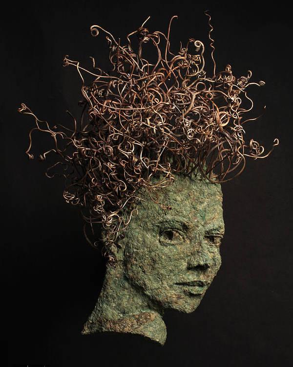 Art Poster featuring the sculpture Vino by Adam Long