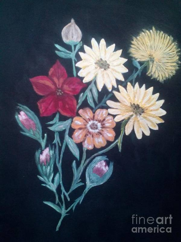 Flowers Poster featuring the painting Vintage Bouquet by Dawn Randle