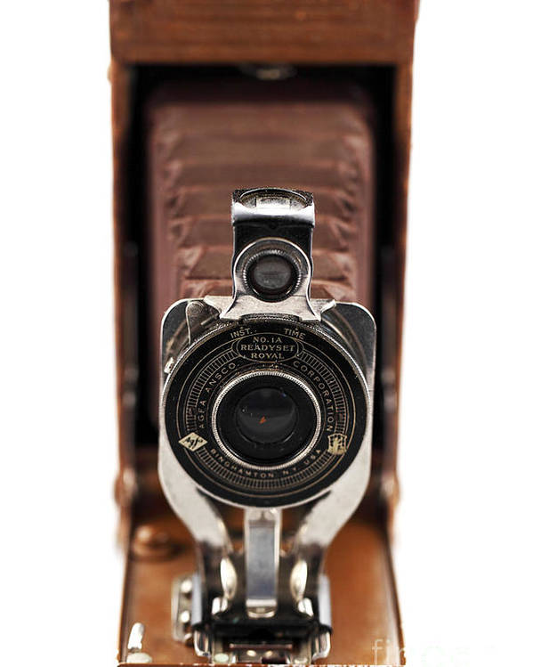 Vintage Camera Poster featuring the photograph Vintage Camera by John Rizzuto