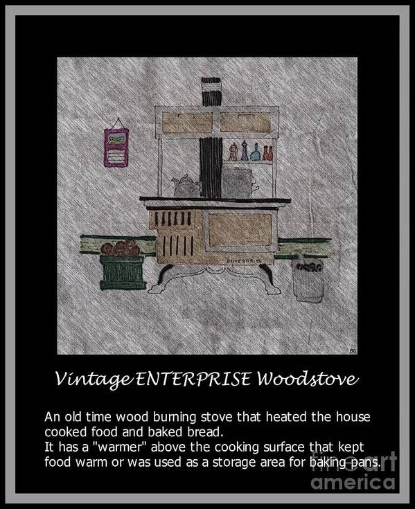Vintage Enterprise Woodstove Poster featuring the photograph Vintage Enterprise Woodstove by Barbara Griffin
