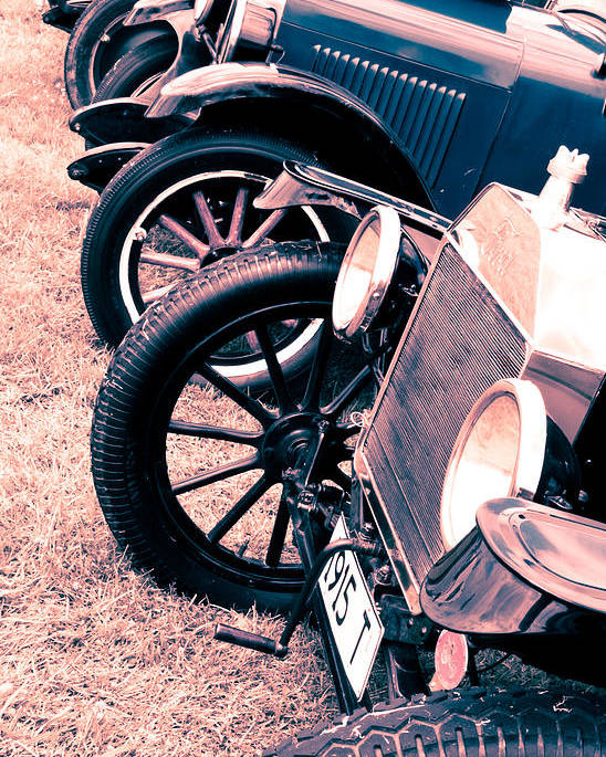 Ford Model T Poster featuring the photograph Vintage Fords by Phil 'motography' Clark