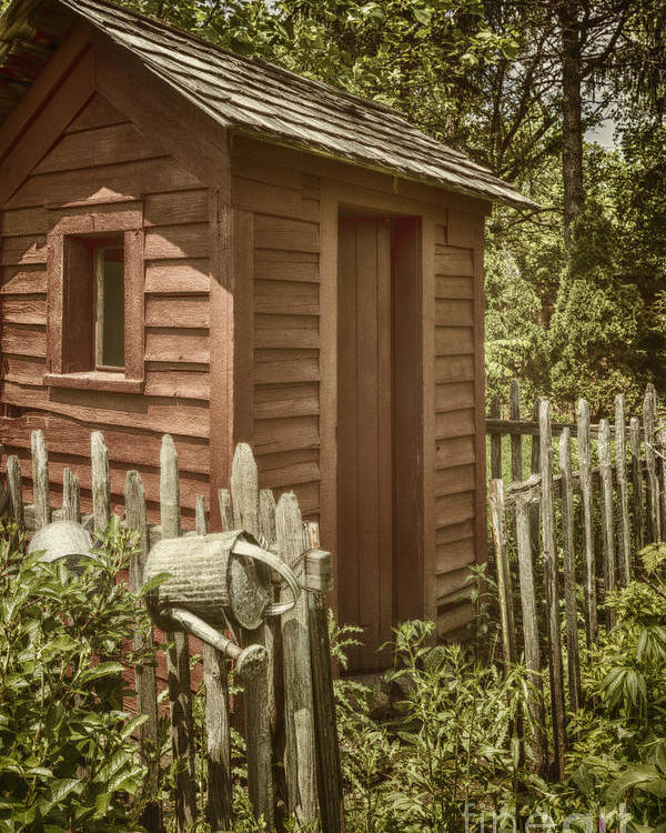 Shed Poster featuring the photograph Vintage Garden by Margie Hurwich