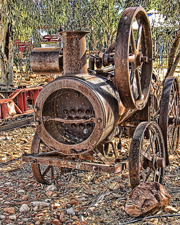 Vintage Poster featuring the photograph Vintage Steam Tractor by Douglas Barnard