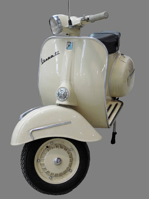 Scooter Poster featuring the photograph Vintage Vespa Piaggio Gl by Guido  Strambio