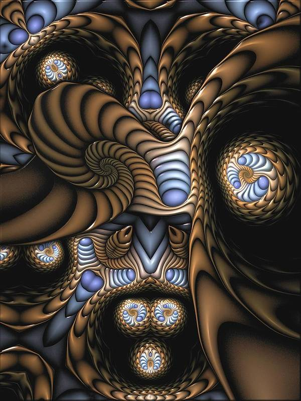 Abstract Poster featuring the digital art Vitreous Inanity by Casey Kotas