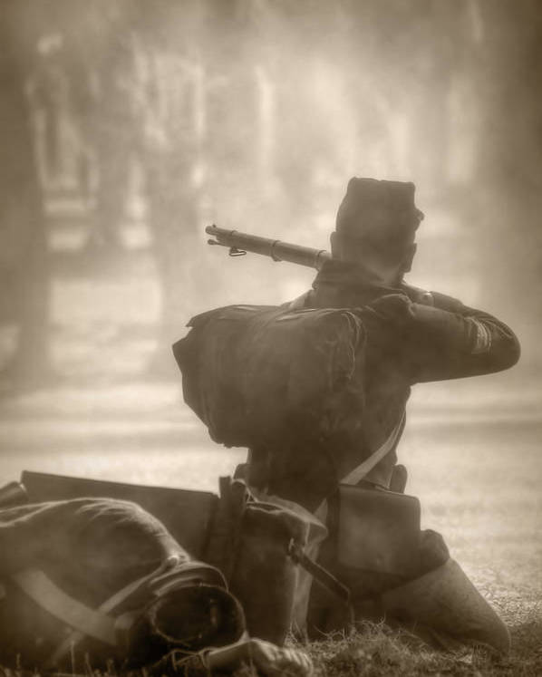 Civil War Poster featuring the photograph War by Nikolyn McDonald