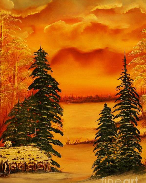 Warm Poster featuring the painting Warm Snow-original Sold- Buy Giclee Print Nr 34 Of Limited Edition Of 40 Prints by Eddie Michael Beck