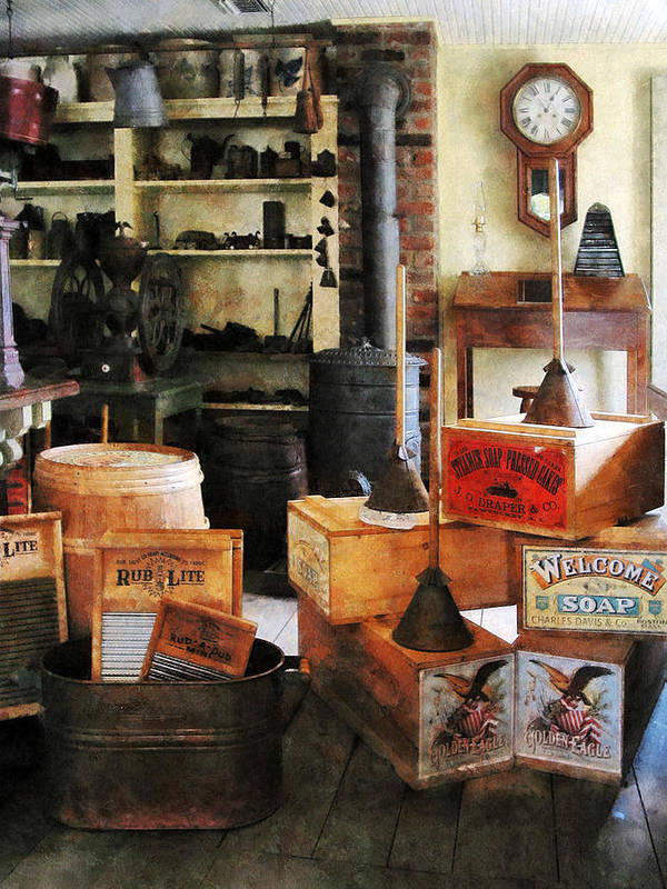 Washboard Poster featuring the photograph Washboards And Soap by Susan Savad