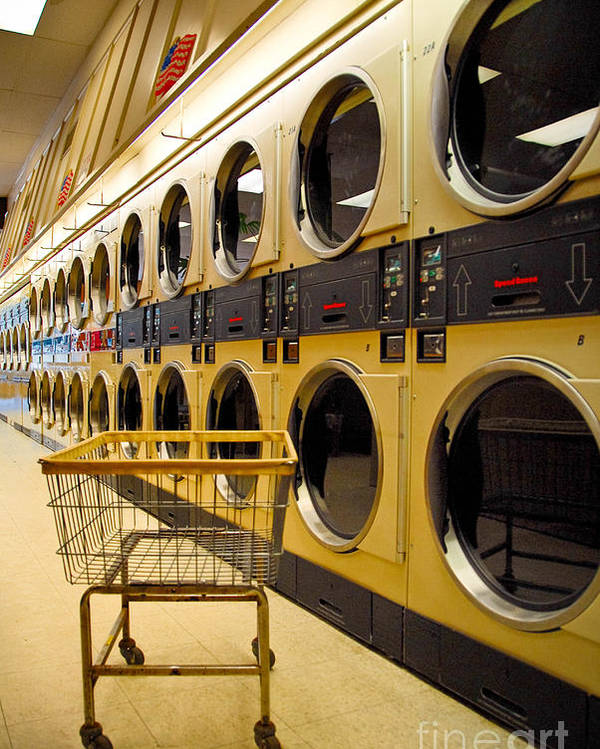 Buggy Poster featuring the photograph Washing Machines At Laundromat by Amy Cicconi