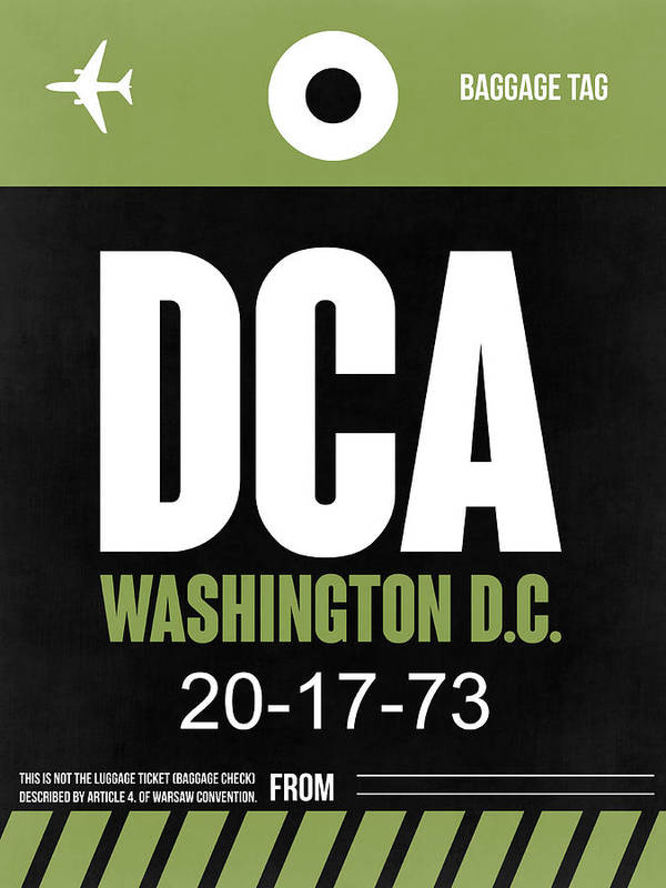 Washington D.c. Poster featuring the digital art Washington D.c. Airport Poster 2 by Naxart Studio