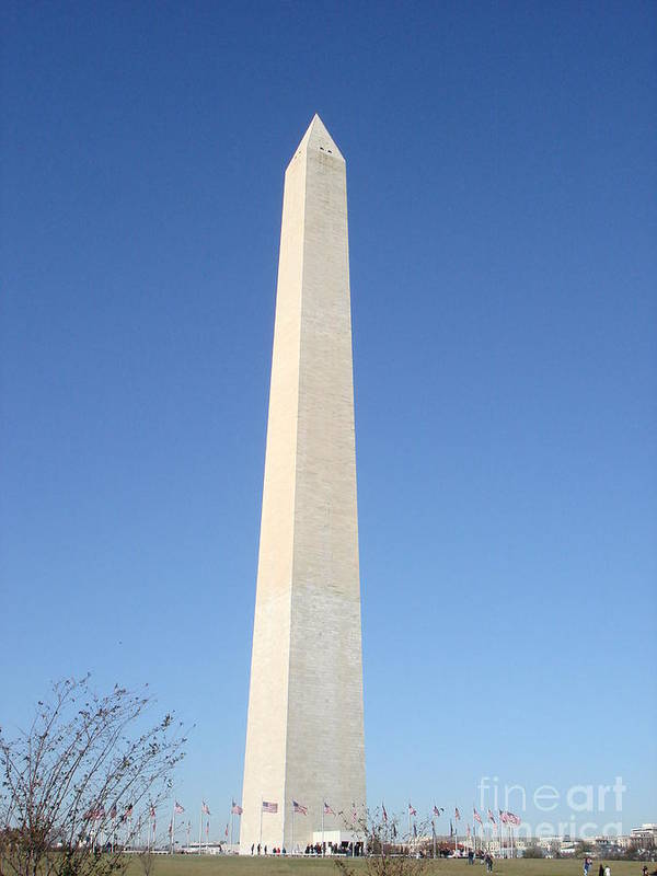 Landscape Poster featuring the photograph Washington Monument  by Aimee Vance