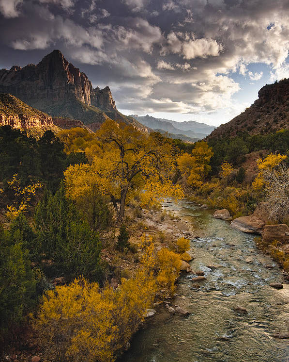 Watchman Poster featuring the photograph Watchman Sunset by Joseph Rossbach