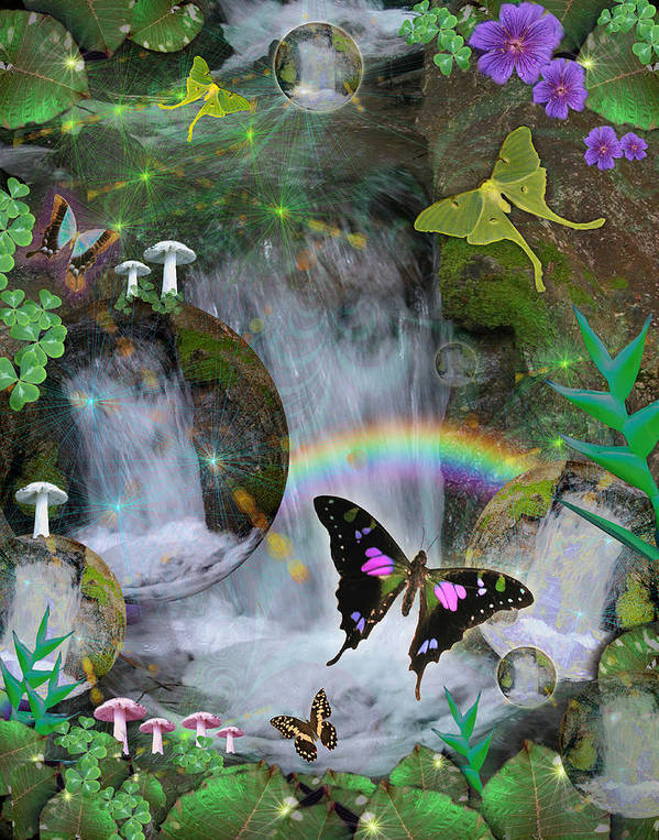 Alixandra Mullins Poster featuring the photograph Waterfall Daydream by Alixandra Mullins
