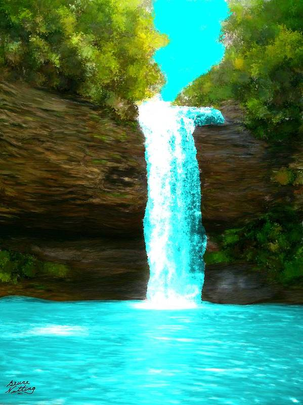 Waterfalls Poster featuring the painting Waterfall Dreams by Bruce Nutting