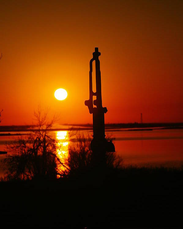 Water Pump Poster featuring the photograph Waterpump In The Sunrise by Jeff Swan