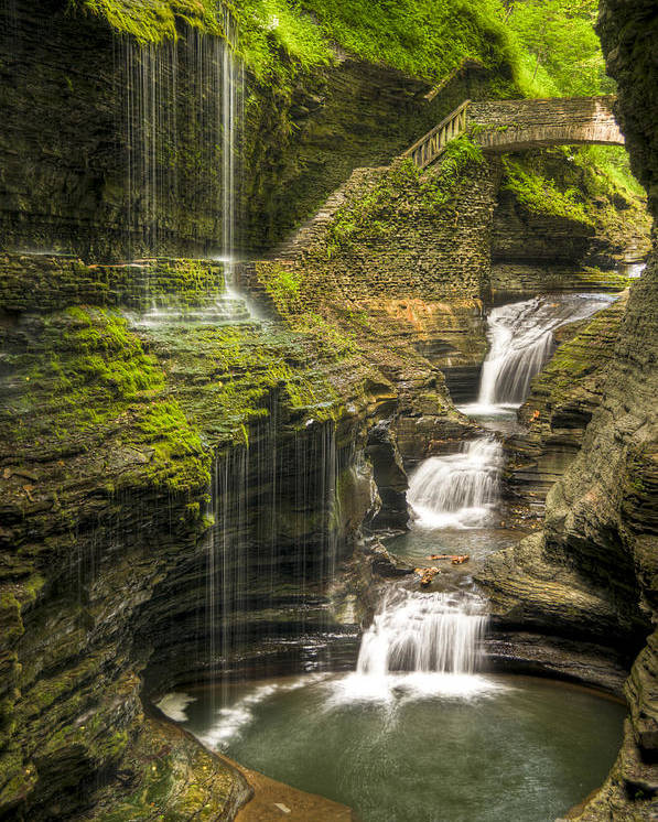 Watkins Glen Poster featuring the photograph Watkins Glen Falls by Anthony Sacco