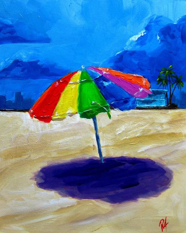 Art Poster featuring the painting We Left The Umbrella Under The Storm by Patricia Awapara