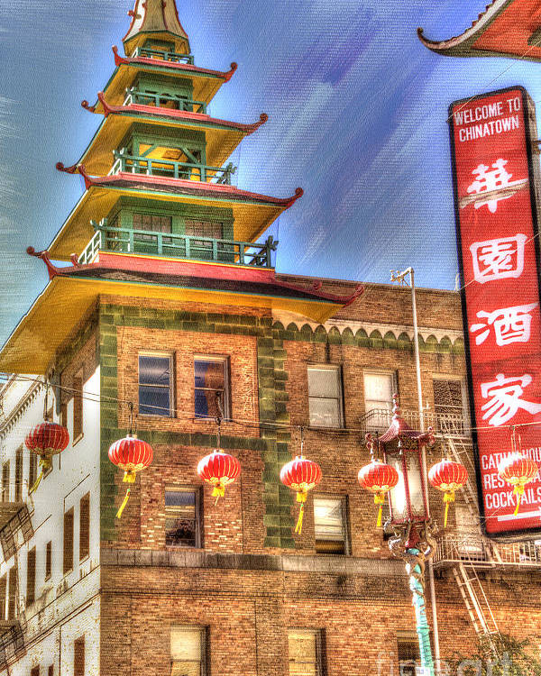 Architectural Detail Poster featuring the photograph Welcome To Chinatown by Juli Scalzi