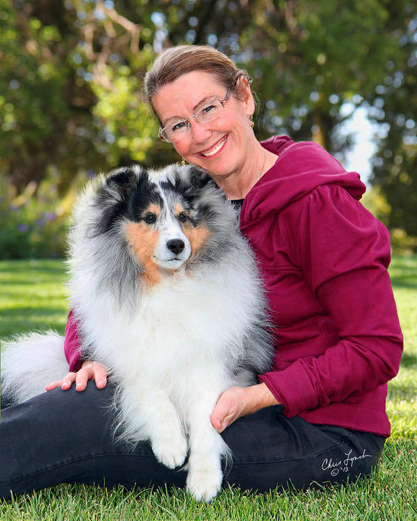 Dog Portrait Poster featuring the photograph Wendy And Gch Swish by Chris Lynch