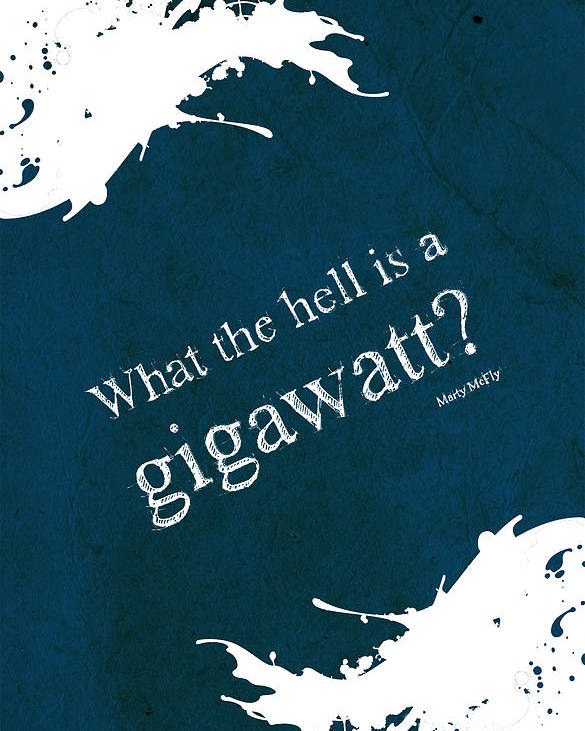 What The Hell Is A Gigawatt Back To The Future Quote Poster By