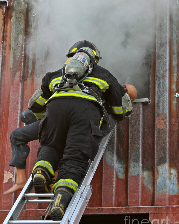 Firefighter Poster featuring the photograph What They Do by Rick Monyahan