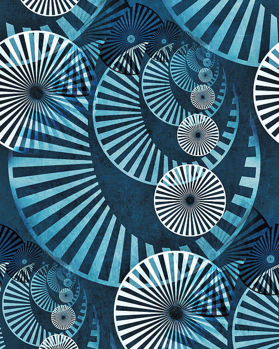 Wheel Poster featuring the digital art Wheel In The Sky 1 by Angelina Vick