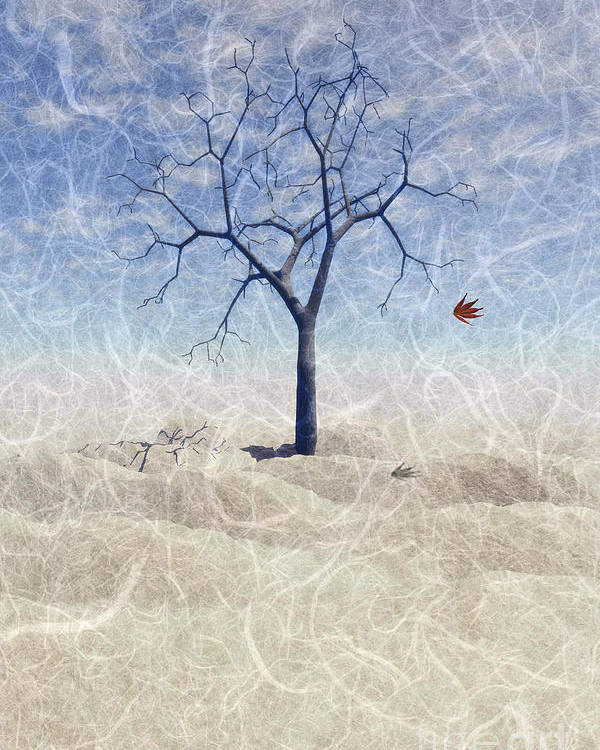 The Last Leaf Falls Poster featuring the painting When The Last Leaf Falls... by John Edwards
