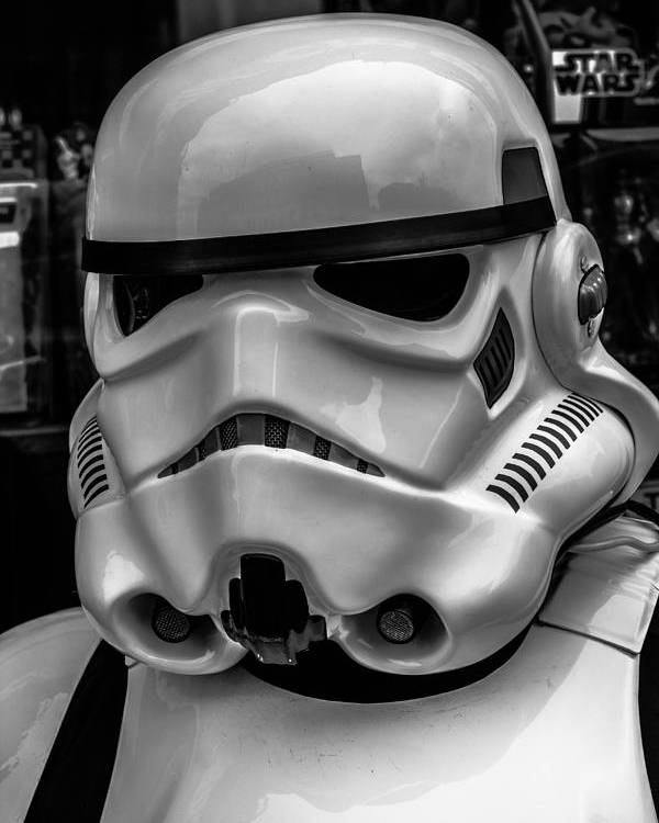 White Storm Trooper Poster featuring the photograph White Stormtrooper by David Doyle