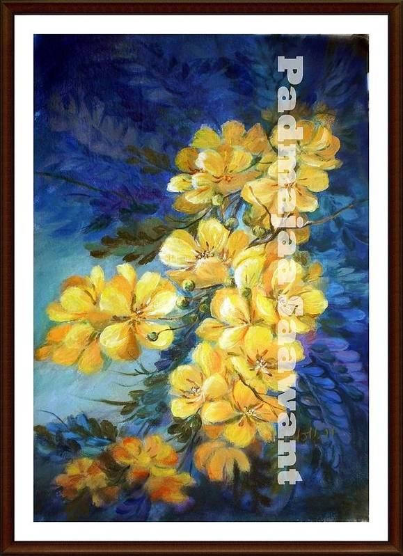 Poster featuring the painting Wild Flower by Nalini Sawant