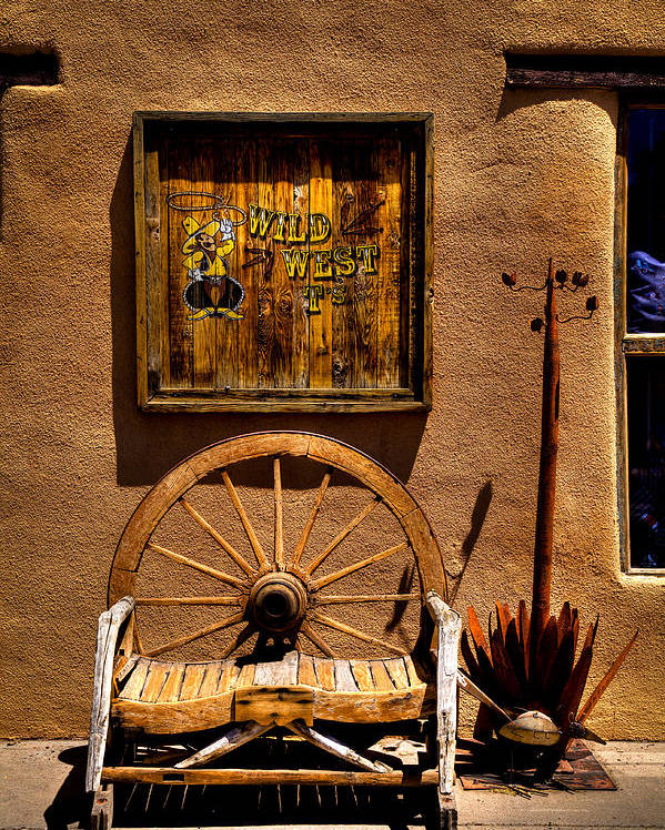 New Mexico Poster featuring the photograph Wild West T-shirts - Old Town New Mexico by David Patterson