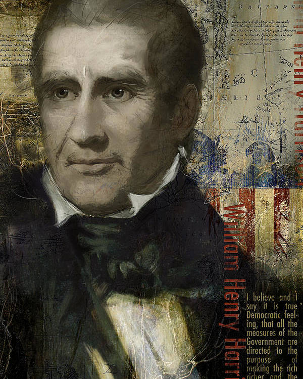 William Henry Harrison Poster featuring the painting William Henry Harrison by Corporate Art Task Force