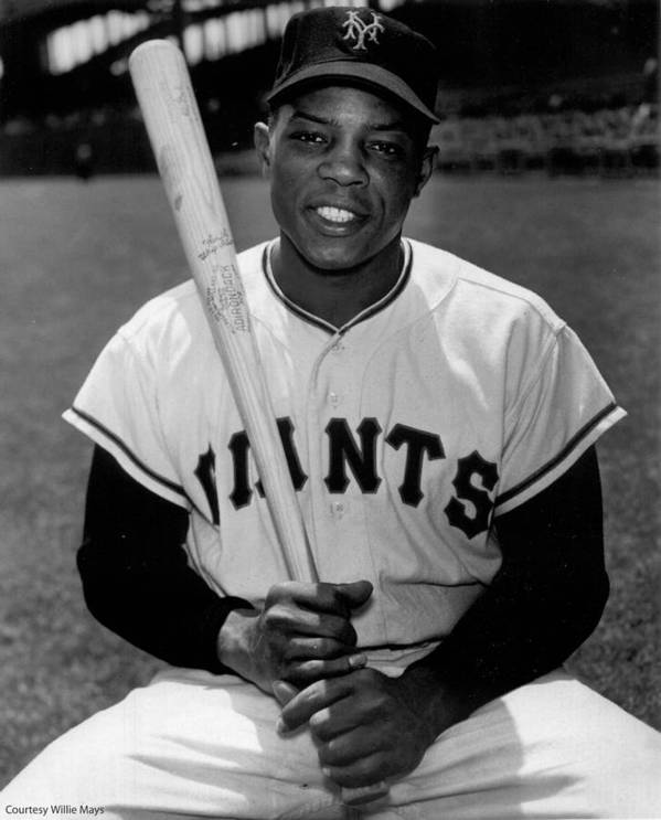 Willie Poster featuring the photograph Willie Mays by Gianfranco Weiss