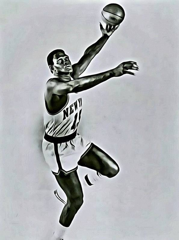 Willis Reed Poster featuring the painting Willis Reed by Florian Rodarte