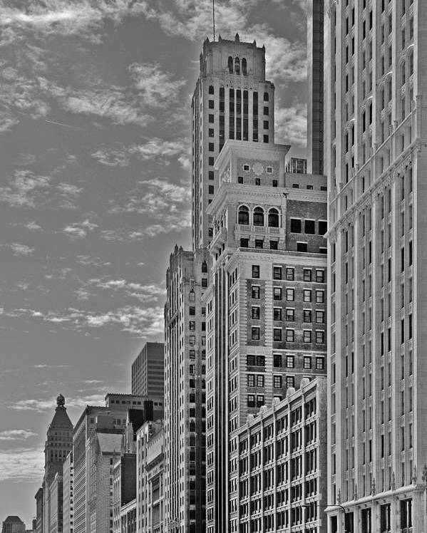 Historic Poster featuring the photograph Willoughby Tower And 6 N Michigan Avenue Chicago by Christine Till