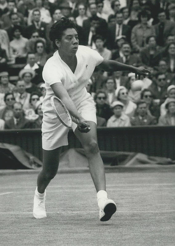 retro Images Archive Poster featuring the photograph Wimbledon Championships - Second Day..., Althea Gibson In by Retro Images Archive