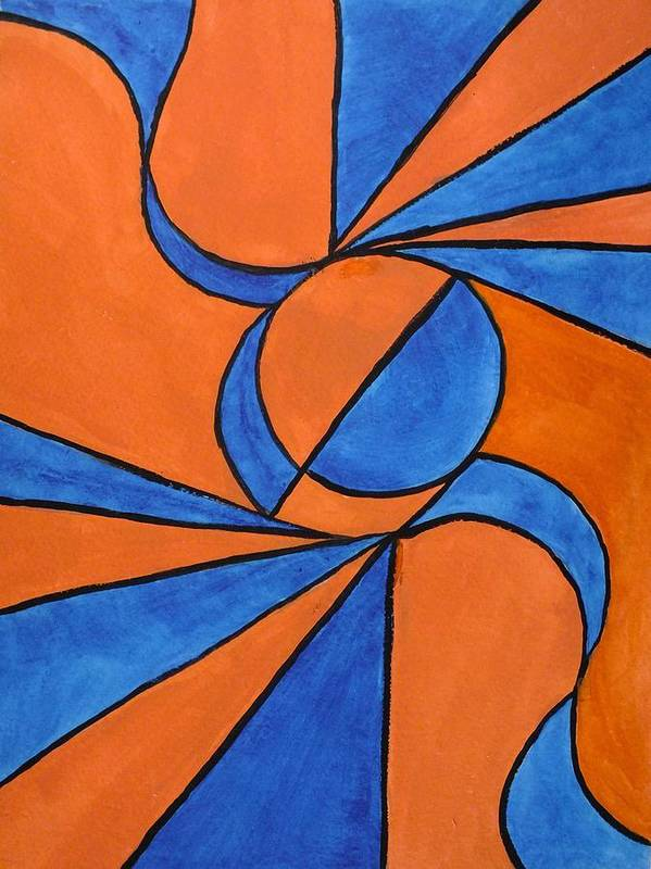 Abstract Poster featuring the painting Wind by Peggy King