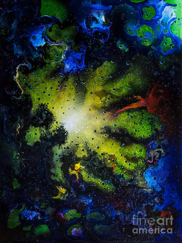 Abstract Poster featuring the painting Window #2 by Jurek Zamoyski