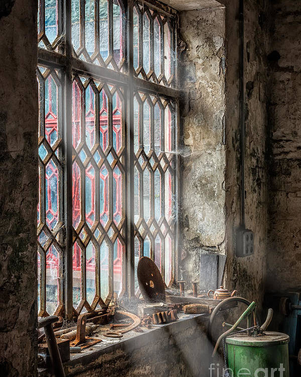 British Poster featuring the photograph Window Decay by Adrian Evans