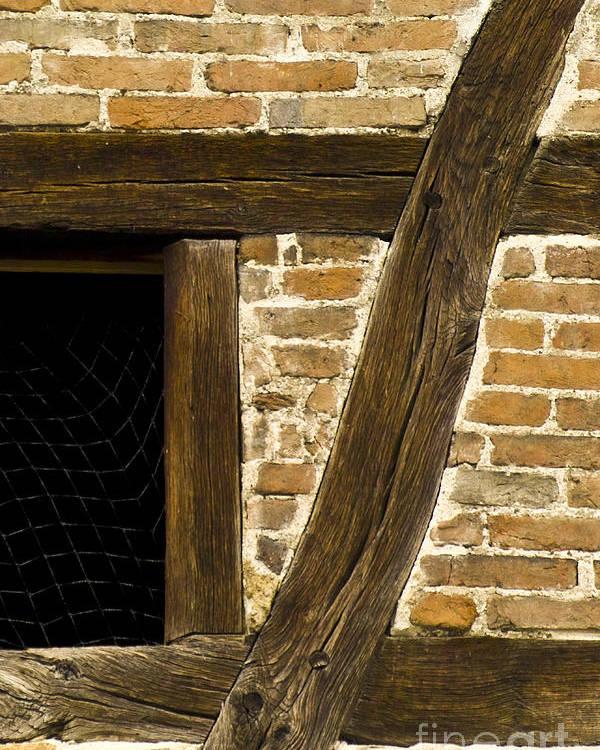 Koehrer-wagner_heiko Poster featuring the photograph Window Frame Detail 1 by Heiko Koehrer-Wagner
