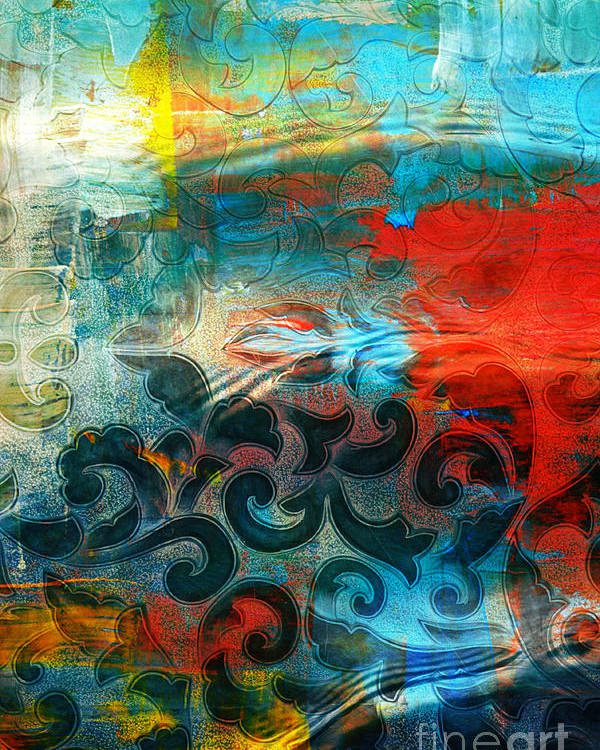 Abstract Poster featuring the photograph Winds Of Change - Abstract Art by Carol Groenen