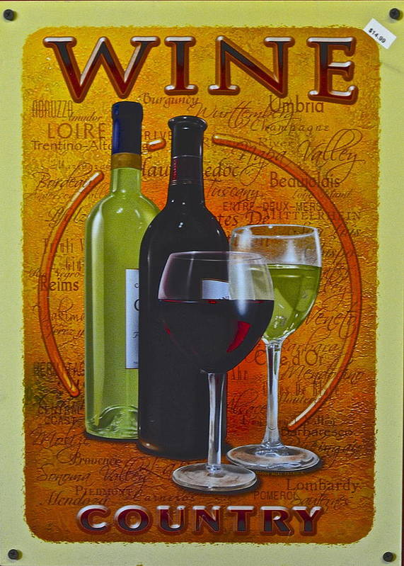 Wine Poster featuring the photograph Wine Country by Frozen in Time Fine Art Photography