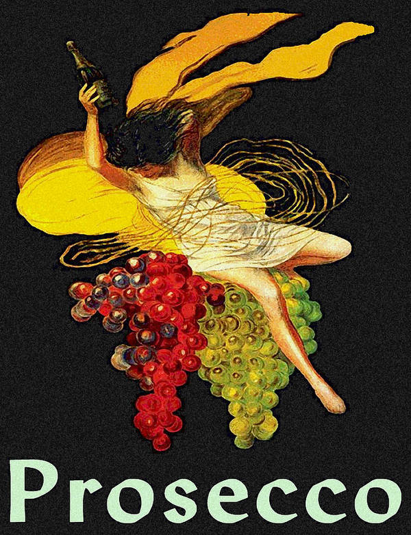 Prosecco Poster featuring the painting Wine Maid Prosecco Poster by Jerry Schwehm