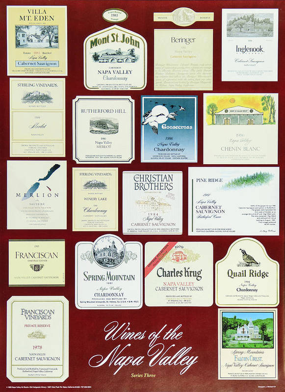 Poster Poster featuring the photograph Wines Of The Napa Valley - Series 3 by J Michael Orr
