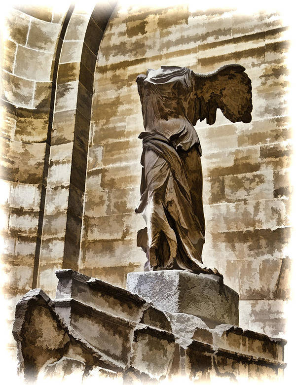 France Poster featuring the photograph Winged Victory - Louvre by Jon Berghoff