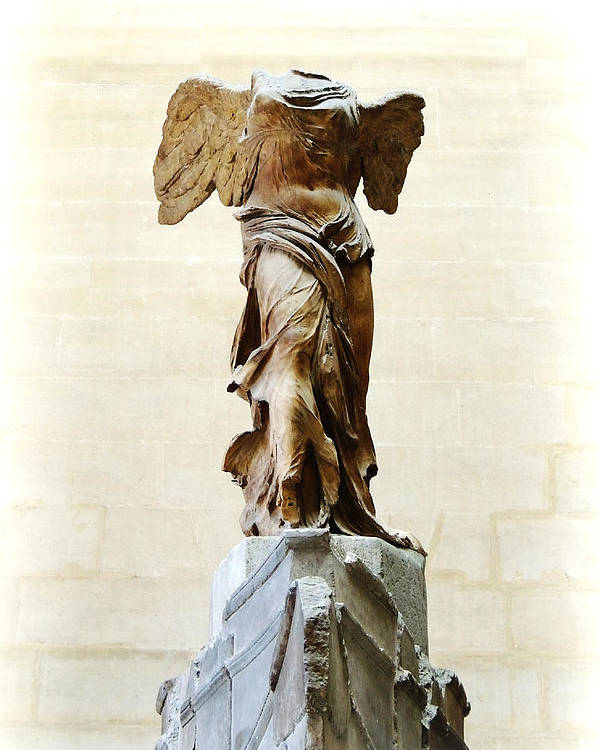Winged Victory Of Samothrace Poster featuring the photograph Winged Victory Of Samothrace by Conor OBrien