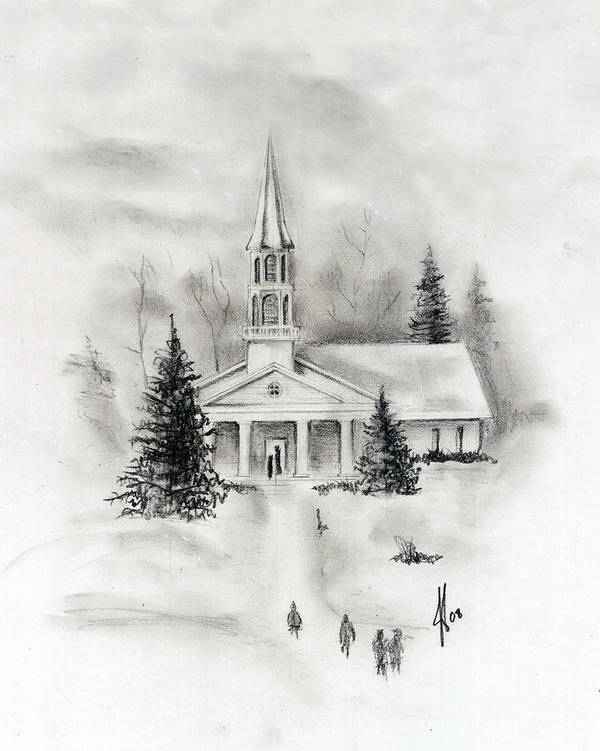 Country Poster featuring the photograph Winter Church by Jacob Cane