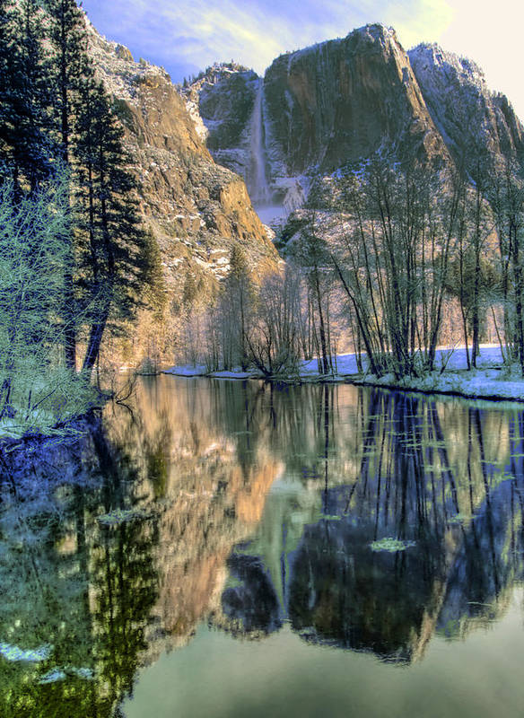 Yosemite Poster featuring the photograph Winter Falls by Bill Gallagher